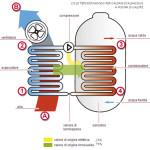 Ciclo termodinamico caldaia scaldacqua a pompa di calore